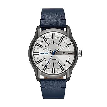 Diesel Reloj Analógico para Hombre de Cuarzo con Correa en Cuero DZ1866: Amazon.es: Relojes