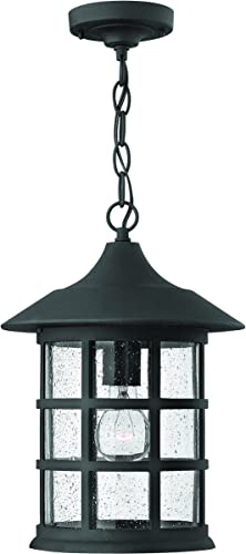Hinkley 1802BK-LED Traditional One Light Hanging Lantern from Freeport collection in Blackfinish,