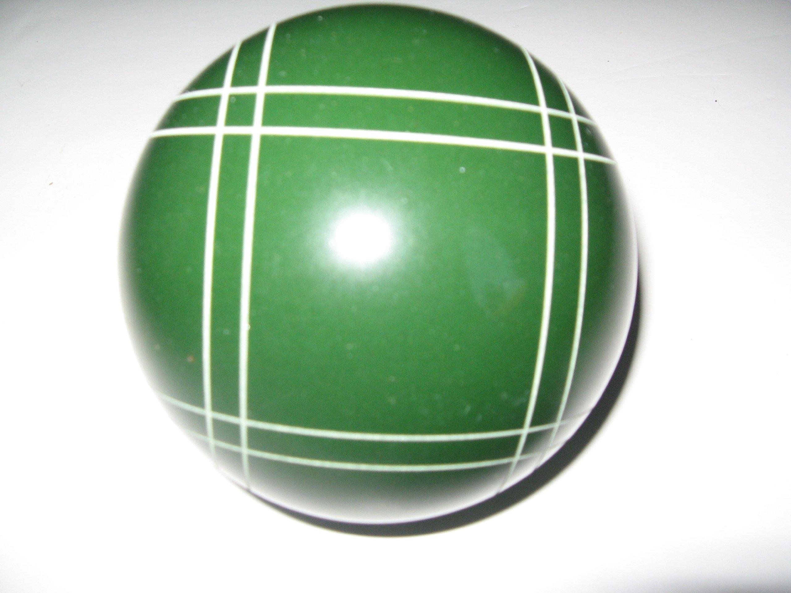 Epco Replacement Bocce Ball with Close Curvey stripes - single green 107mm