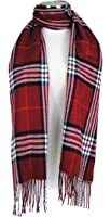 Tapp Collections™ Cashmere Feel Plaid and Check Tassel Ends Scarf