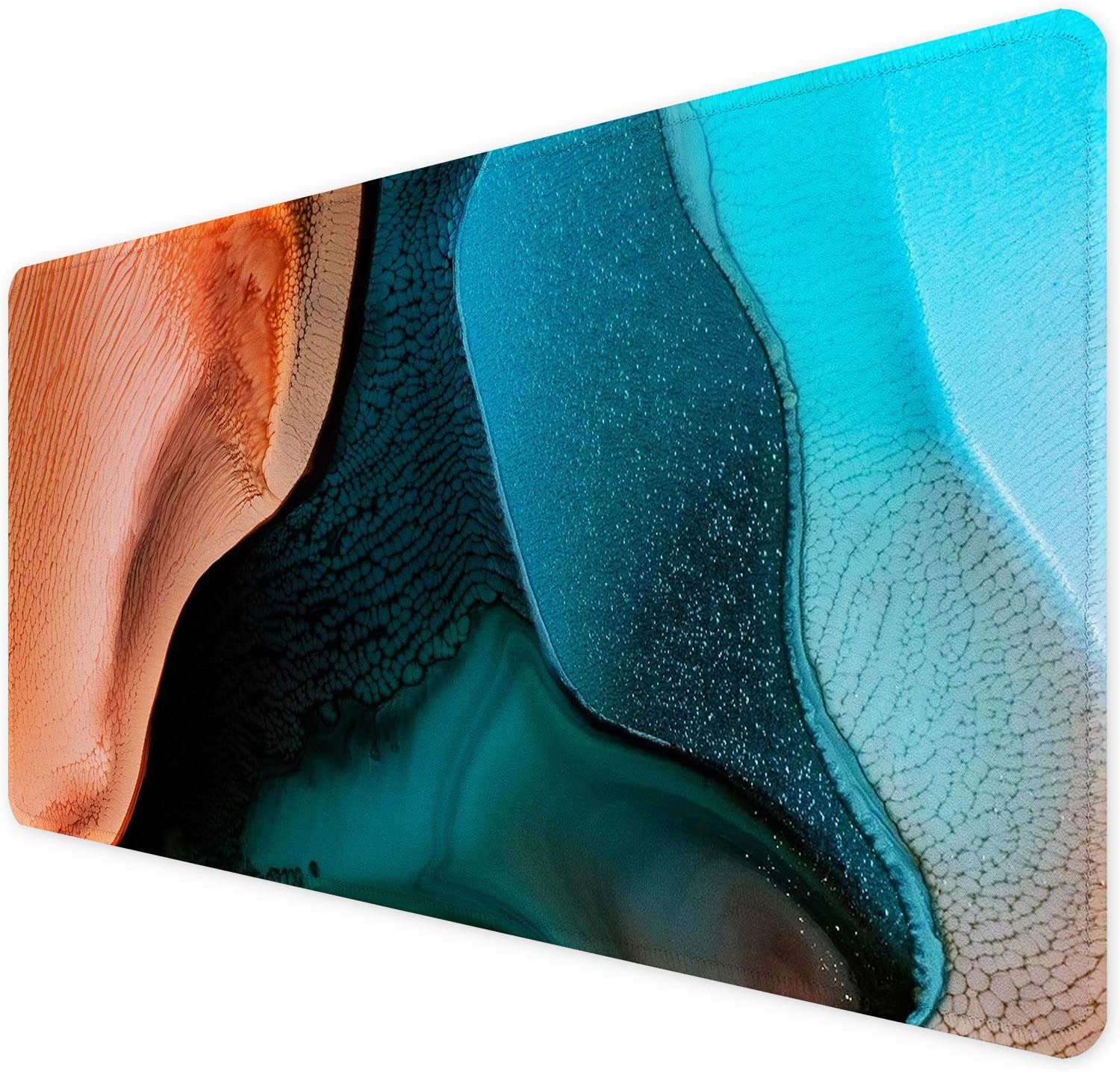 Abstract Colorful Leaves Mousepad Non-Slip Rubber Gaming Mouse Pad Mouse Pads for Computers Laptop 11.8 X 31.5 in