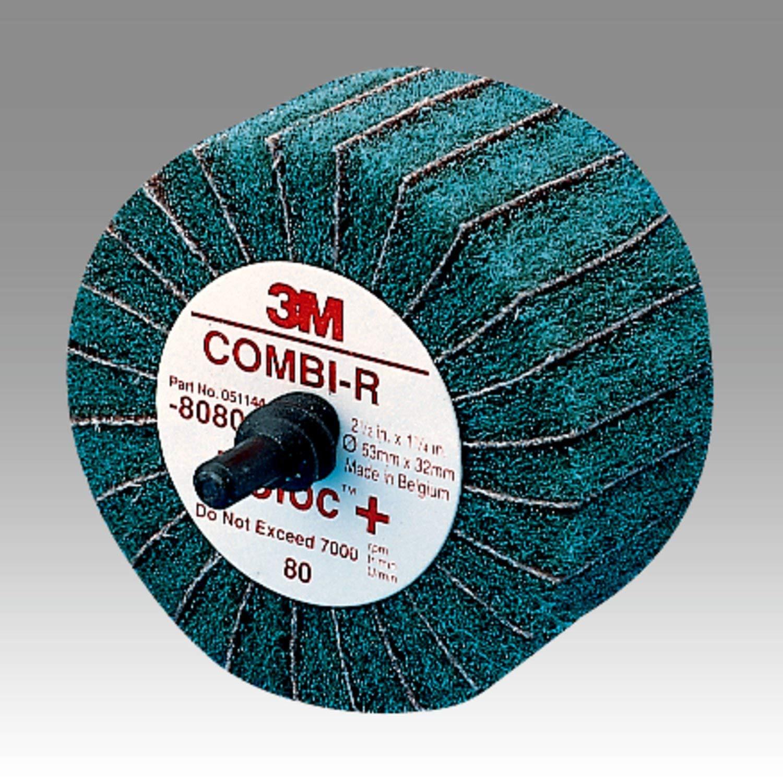 Scotch-Brite TM 2-1//2 Diameter x 1-1//4 Width Pack of 10 9000 rpm P180 Grit 2-1//2 Diameter x 1-1//4 Width 3M 00051144808007 Maroon X-Weight Aluminum Oxide Combi-R Wheel 80800 Roloc Quick-Change Attachment