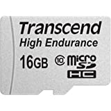 Transcend Information 16GB High Endurance microSD Card with Adapter (TS16GUSDHC10V)