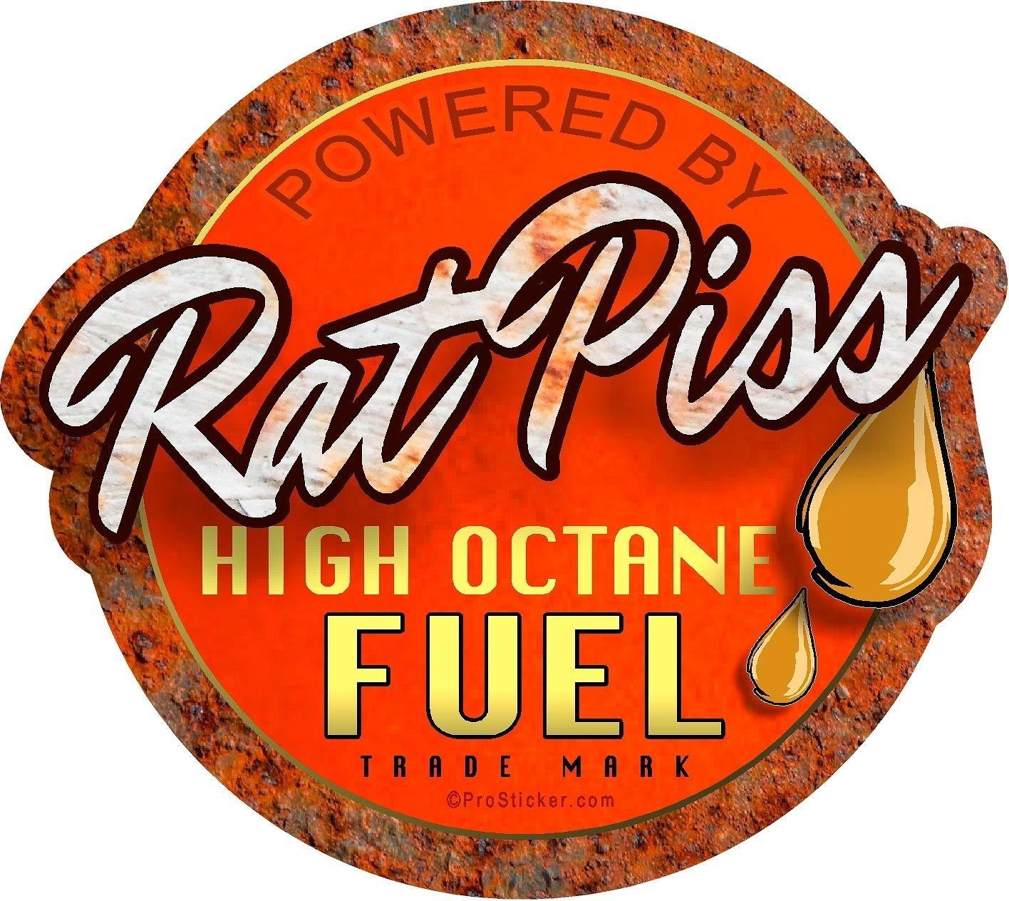 Two 4 X 4.5 Rat Rod Series Rat Piss High Octane Fuel Decal Sticker ProSticker 756.2PK
