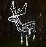 Kingfisher RL5 Standing Reindeer Animated Rope Light, Transparent