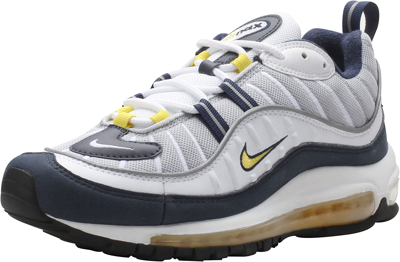 Nike Air Max 98 Yellow White Navy Blue