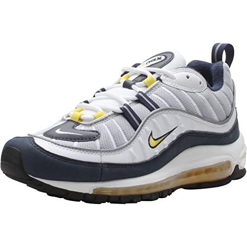 Nike Air Max 98 Yellow White Navy Blue Mens Size 14 640744