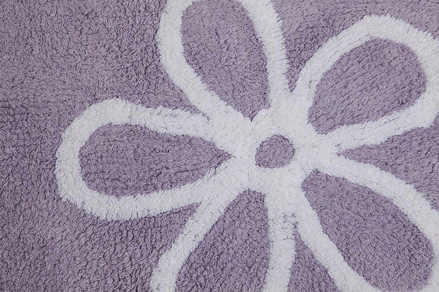 Lorena Canals Purple Flowers Washable Children's Rug - Machine Washable, Perfect for the Nursery - Handmade from 100% Natural Cotton and Non-Toxic Dyes by Lorena Canals (Image #3)