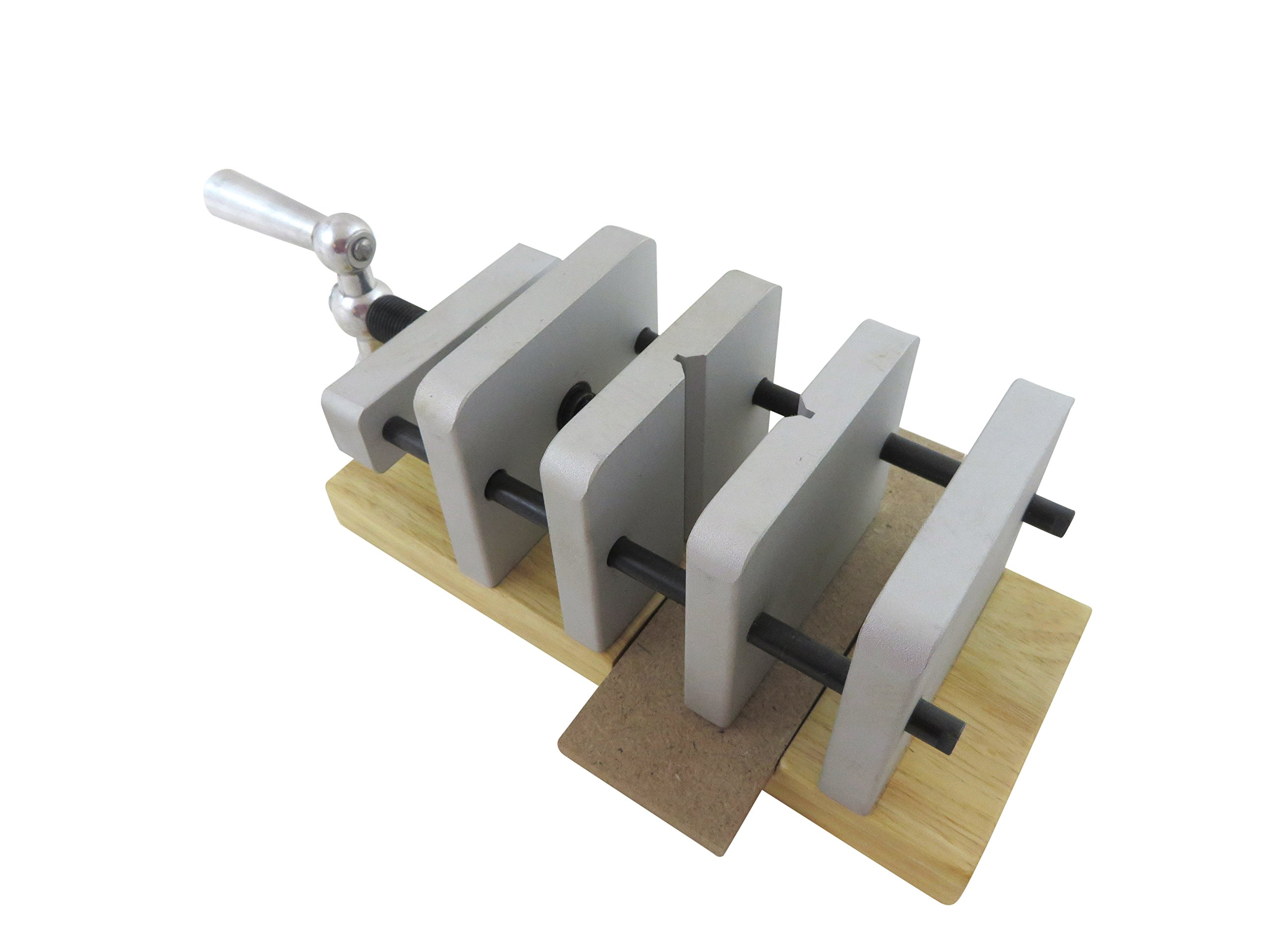 """Taytools 469003 Deluxe Pen Blank Centering Drill Press Vice, Jaws open to 2-3/8"""", Will Drill Center of Blanks Up to 1-7/8"""" Square"""