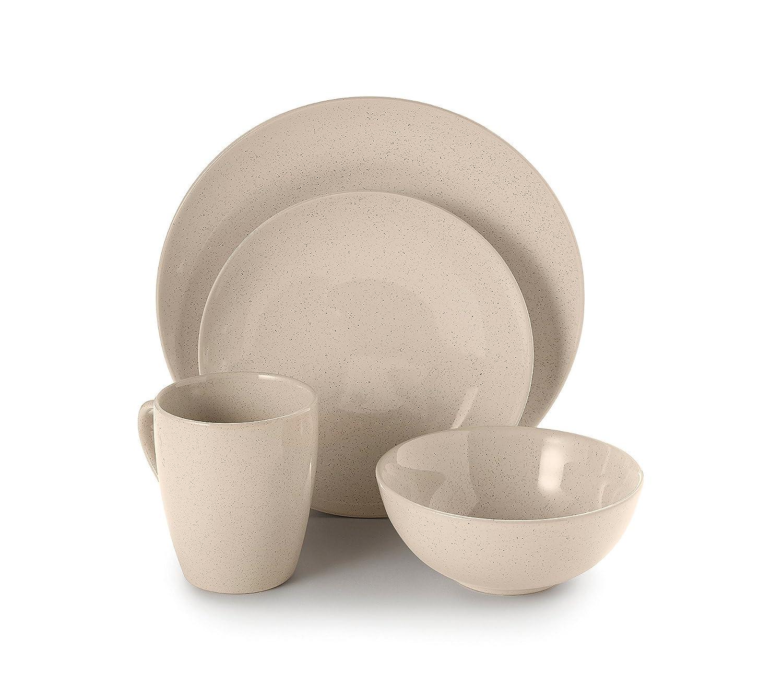 sc 1 st  Amazon.com & Amazon.com | Ruff Hewn Dinnerware 4 piece Set Oatmeal: Flatware Sets