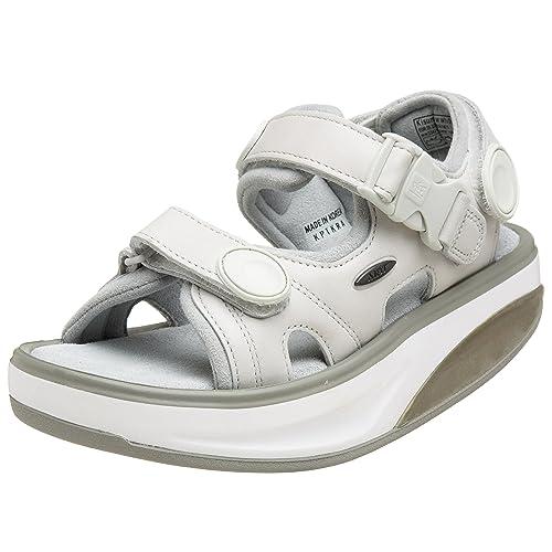 MBT MBT Kisumu White - Zapatillas para Deportes de Exterior de Piel Lisa para Mujer, Color Blanco, Talla 41 2/3: Amazon.es: Zapatos y complementos