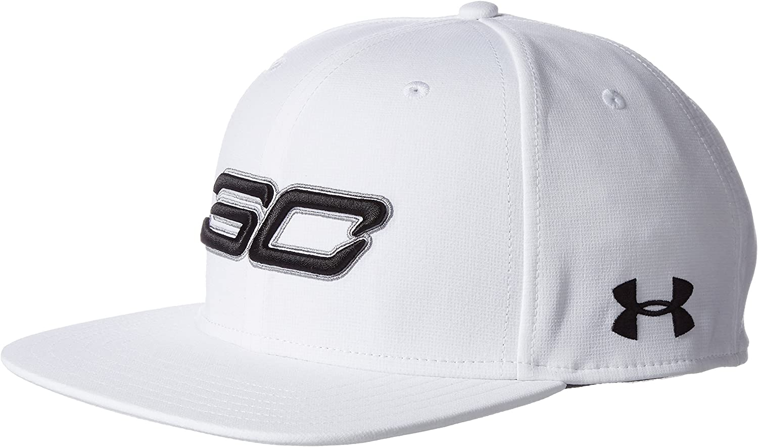 Under Armour Mens SC30 Core Snapback Cap, White/White, One Size ...