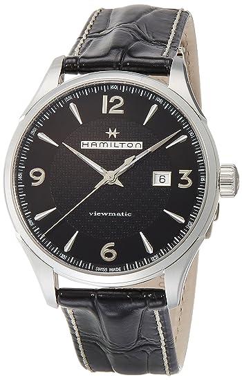 165aaad354ea HAMILTON JAZZMASTER RELOJ DE HOMBRE AUTOMÁTICO 44MM CORREA DE CUERO  H32755731  Amazon.es  Relojes
