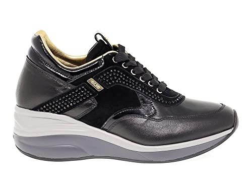 Cesare Paciotti 4Us Sneakers Donna 4USED3 Pelle Nero  Amazon.it  Scarpe e  borse d88297fa0b3