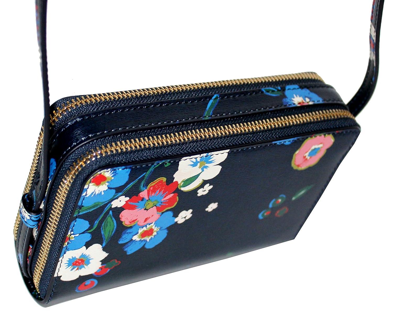 2b5a70099a0 Amazon.com  Tory Burch Parker Floral DOUBLE ZIP MINI BAG Leather Women s  Handbag  Shoes