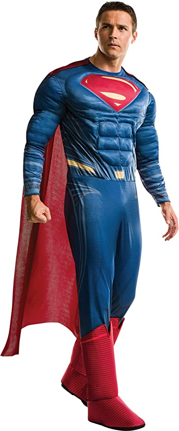 Rubies Mens Superman Adult Deluxe Costume, As Shown, Extra-Large