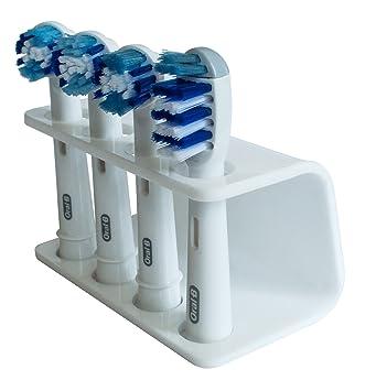 Seemii - Soporte para cabezales de cepillo de dientes electrónico, Soporta 2 ó 4 cabezales, Soporte Oral-B cabezales, Blanco (4): Amazon.es: Hogar