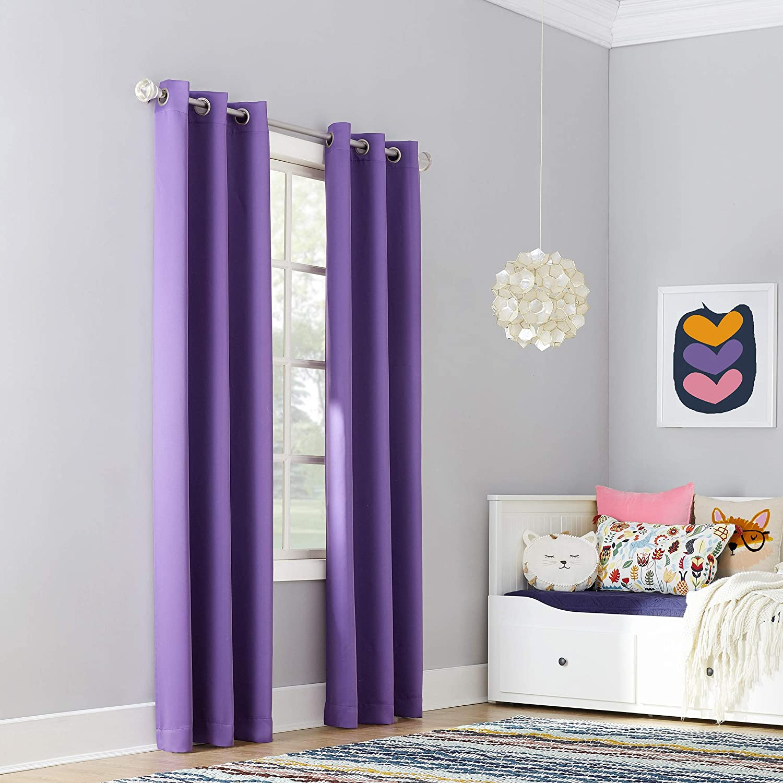 Blush Sun Zero Riley Kids Bedroom Blackout Grommet Curtain Panel 40 X 63