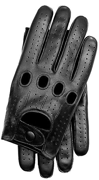 Black//Red Thread Riparo Men/'s Fingerless Half Finger Driving Motorcycle Gloves