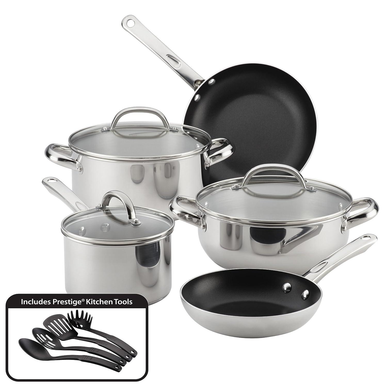 Farberware Buena Cocina Stainless Steel Cookware Set, 12-Piece 70150