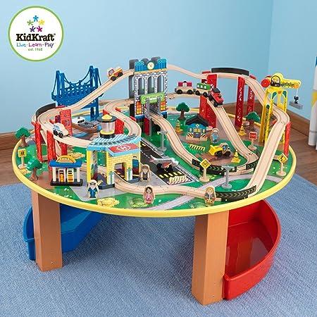 Awesome Amazon.com: KidKraft City Explorer Wooden Train Set U0026 Play Table W/ 80 Toy  Pieces   17985: Toys U0026 Games