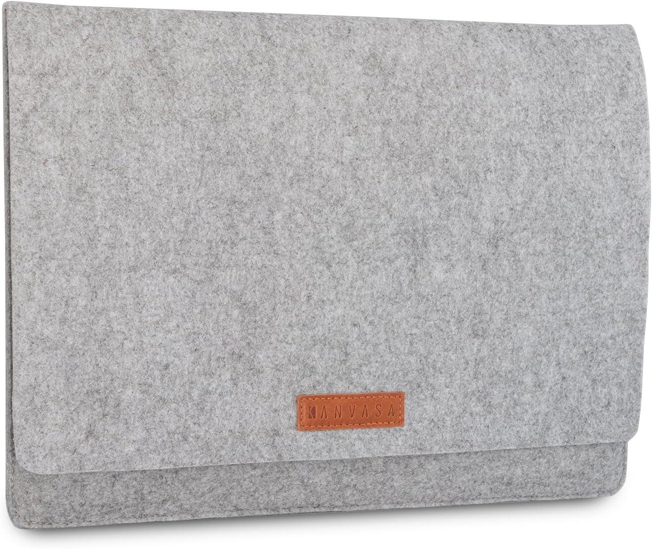 KANVASA Felt Laptop Sleeve 14-15 Inch MacBook Pro Grey Notebook Case