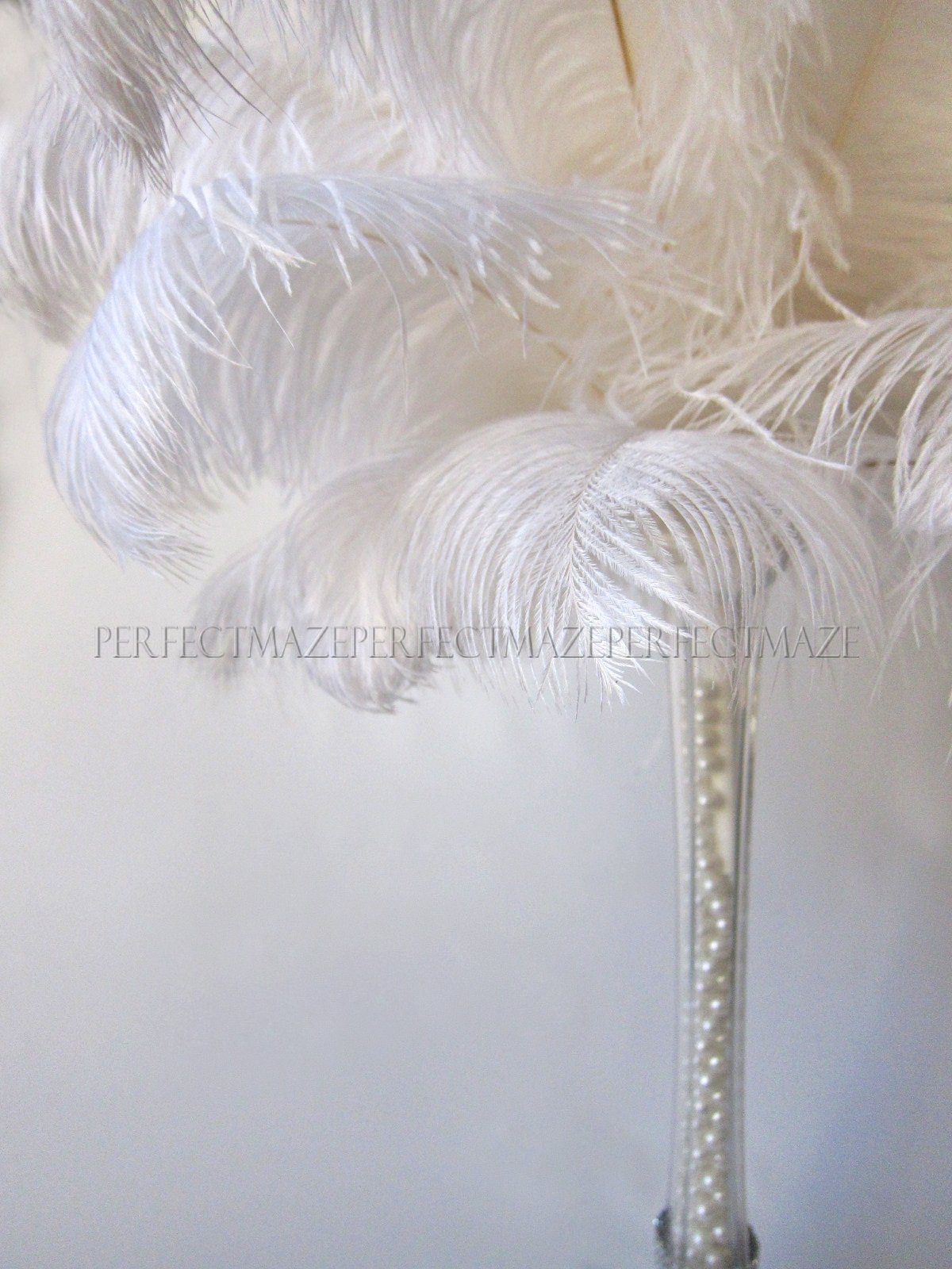 Perfectmaze 16''-18'' Ostrich Feather Premium Quality for Wedding Party Centerpiece Vase Decoration (50)