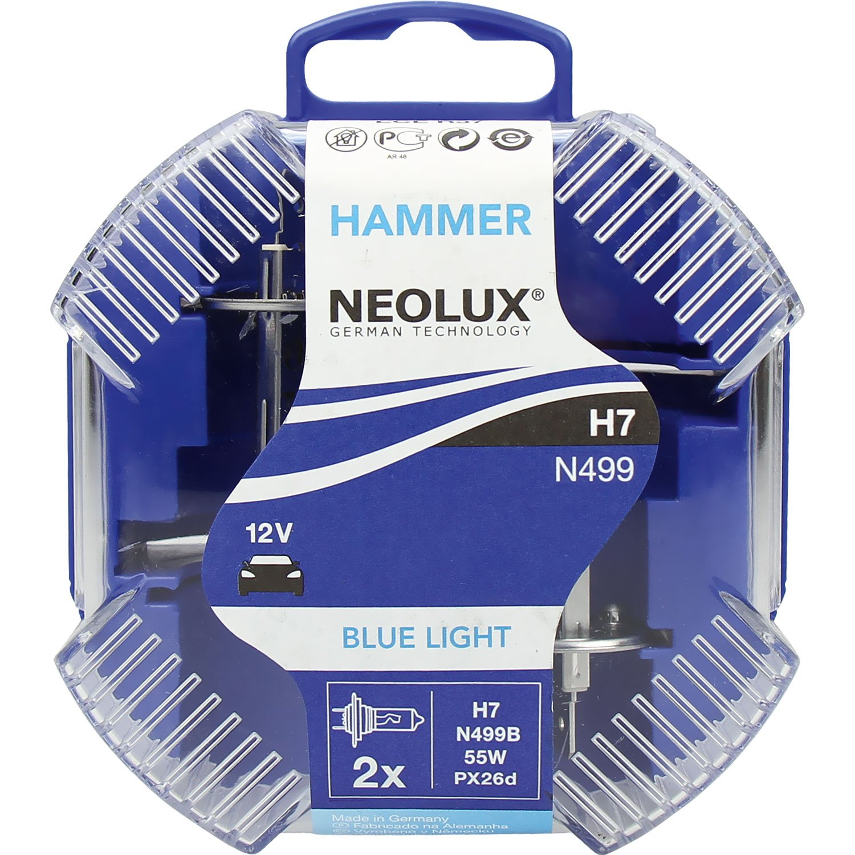 Neolux Blue Light N499B Car Bulb Set H7 12 V 55 W PX26D Blue Light Osram Ltd.