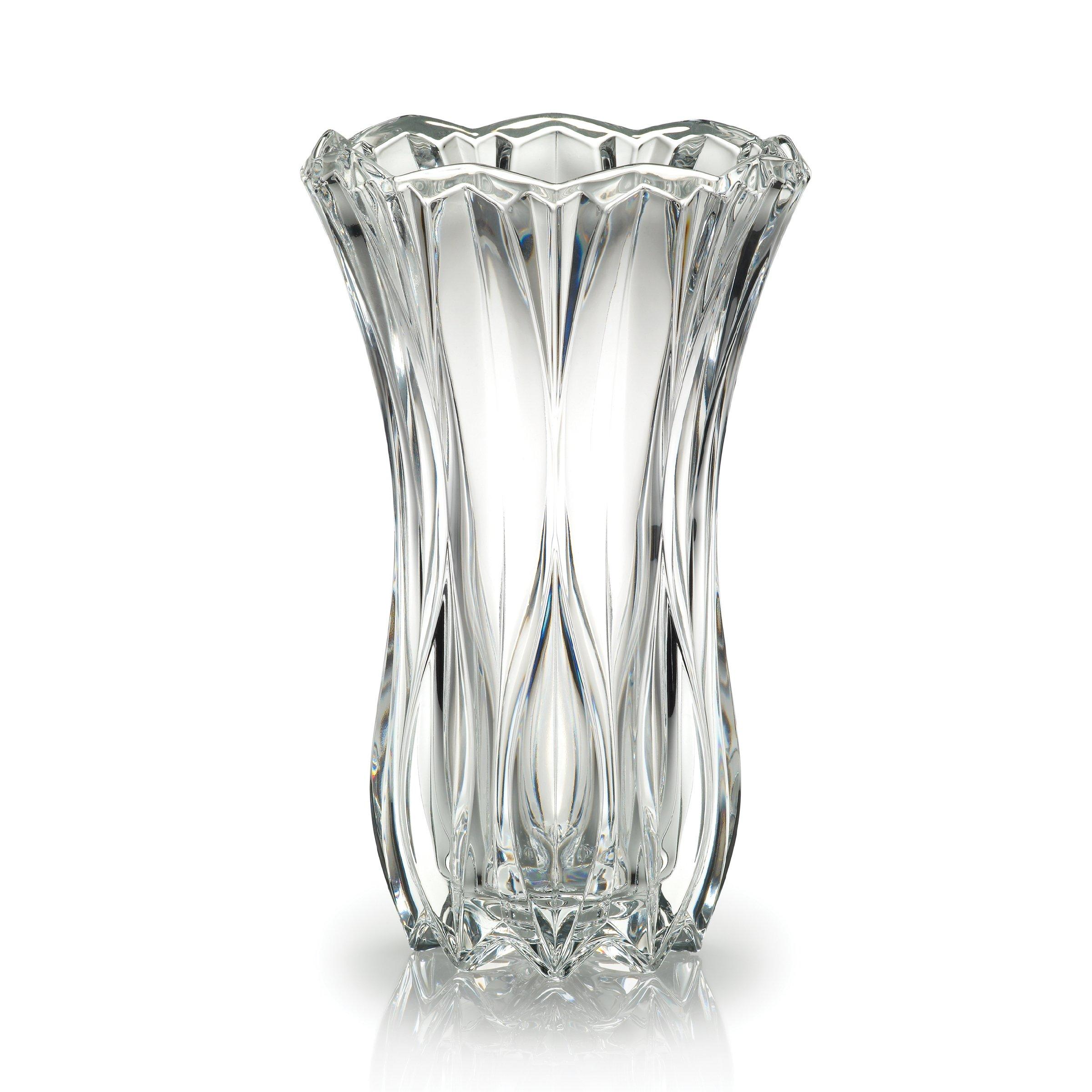 Mikasa Celebrations Blossom Crystal Vase, 12-Inch