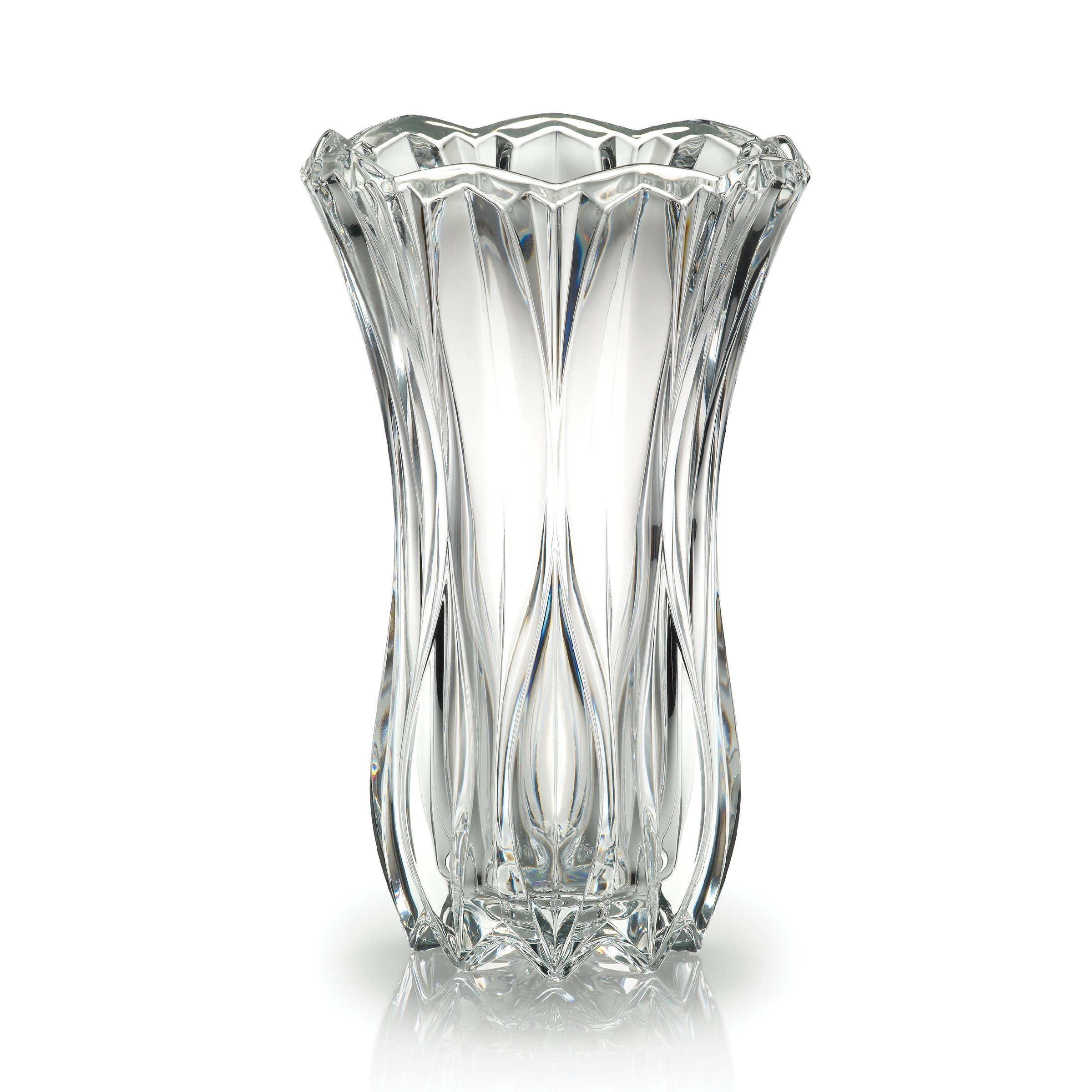 Mikasa Celebrations Blossom Crystal Vase, 12-Inch by Mikasa