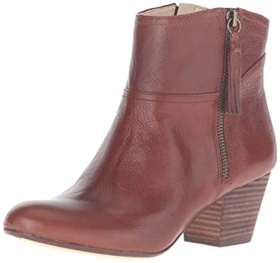 Perfect Styles Nine West Get On It Peep-Toe Leather Bootie Red For Women Outlet