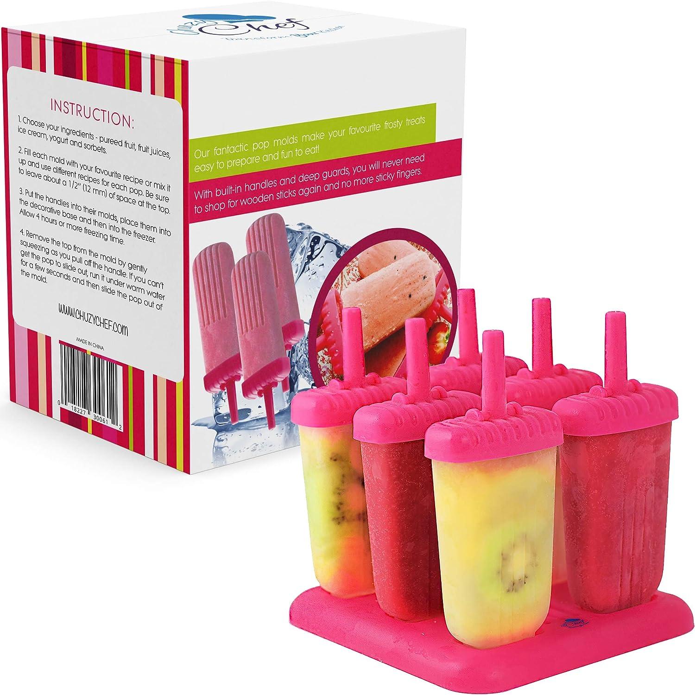 itchoate DIY Round Ice Cream Popsicle Maker Mold Ice Pop Block Ice Pop Lolly Set Random