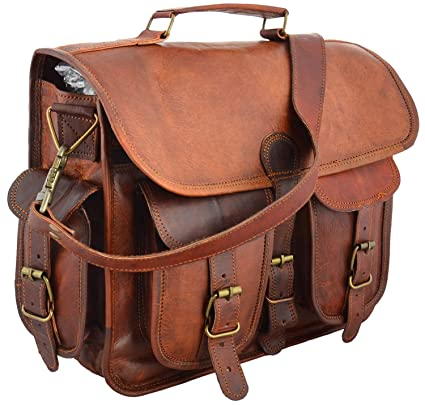 7cb1df847f94 Image Unavailable. Image not available for. Color  jaald 15 quot  Distressed  Leather Messenger Bag ...