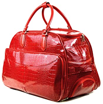 Red Crock Pattern Wheeled Trolley Bag/Cabin Bag/Weekend Bag ...