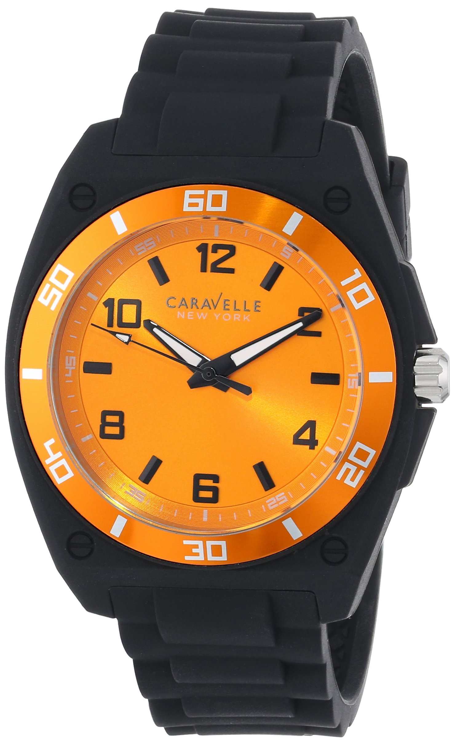 Caravelle New York Men's 45A112 Analog Display Japanese Quartz Black Watch 8