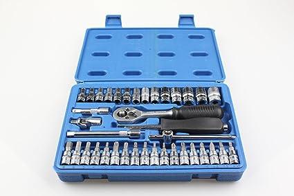 Juego de llaves tubulares (1/4 pulgadas Benson de 38 piezas cromo vanadio acero