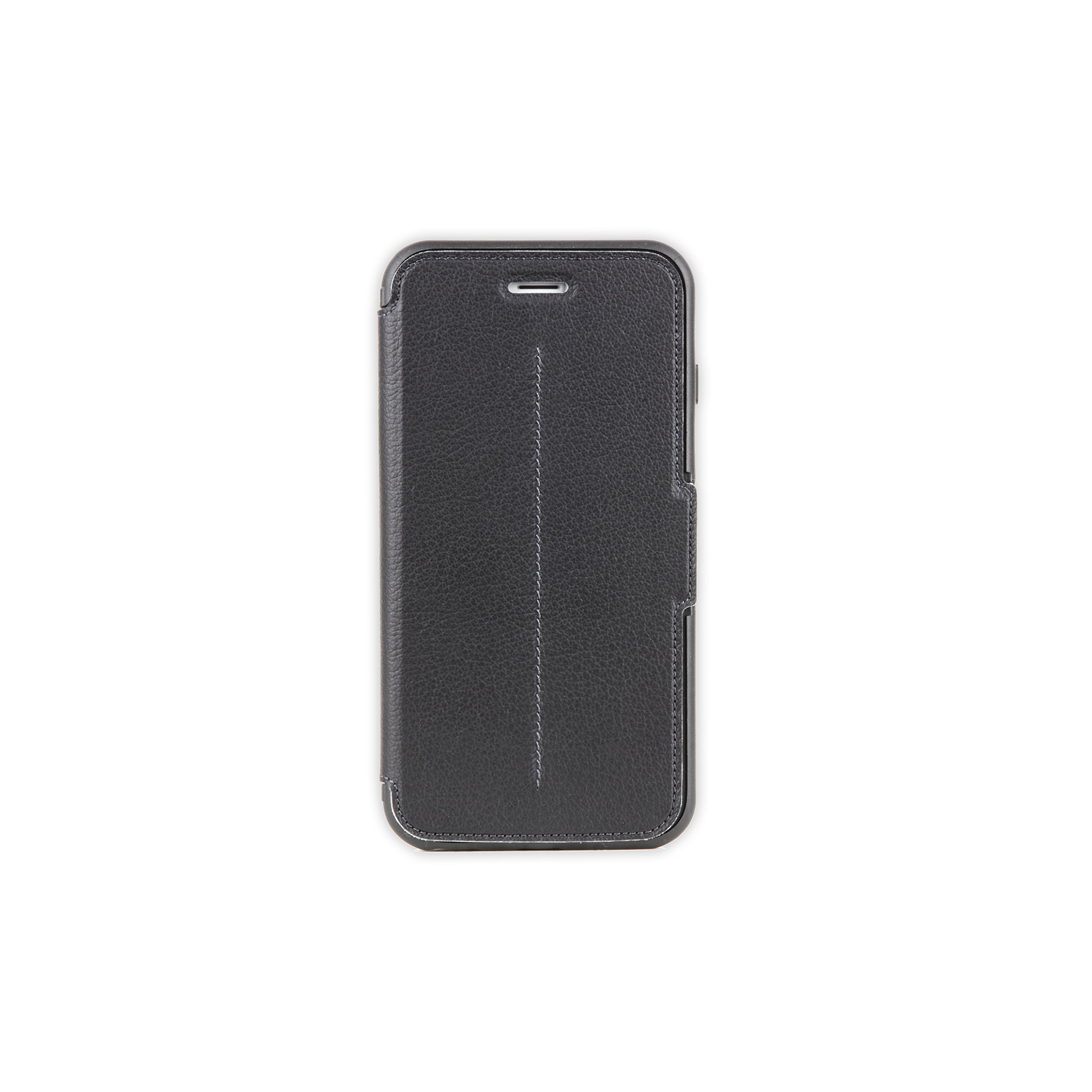OtterBox STRADA SERIES iPhone 6 Plus/6S Plus Case- Retail Packaging - NEW MINIMALISM (BLACK/DARK GREY/BLACK LTHR FOLIO)