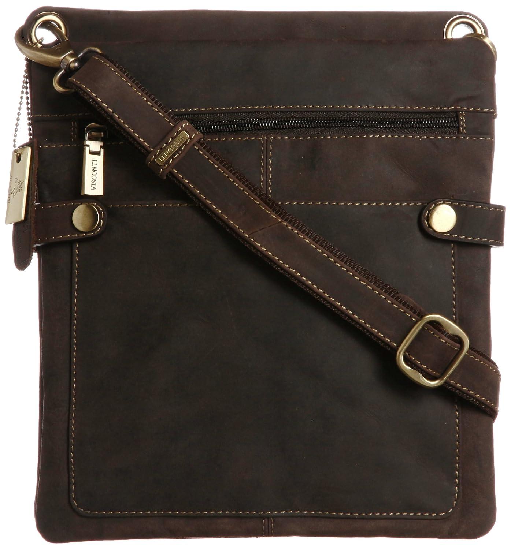 [ヴィスコンティ] VISCONTI マルチポケット 薄型ミディアムサイズ ショルダーバッグ 牛革シザーバッグ NEO(M) B00E5SK8A0 oil brown+