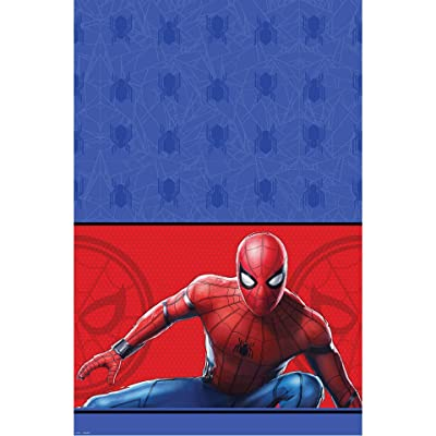 """Spider-Man: Far From Home"" Paper Party Table Cover, 54"" x 96"": Toys & Games"