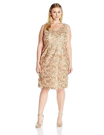 Brianna Women\'s Plus Size Fringed Floral Embellished Dress ...