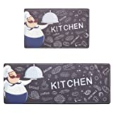 Kitchen Mat Set, KIMODE 2 Piece Waterproof Kitchen