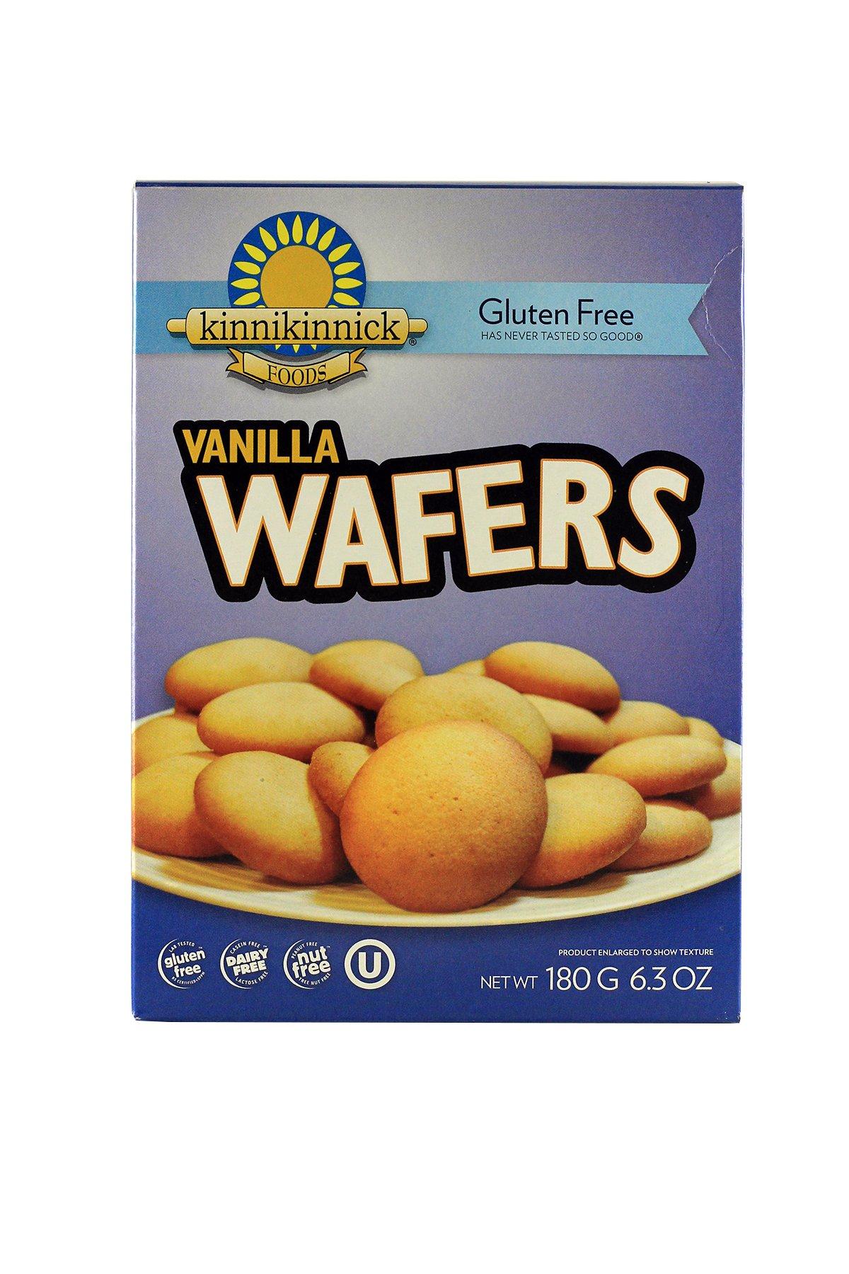 Kinnikinnick Foods, Gluten Free, Vanilla Wafers, 6.3 oz (180g) Kinnikinnick Foods, Gluten Free, Vanilla Wafers, 6.3 oz (180g) - 2pcs
