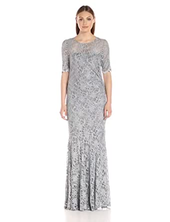 f9edc860997c6 Decode 1.8 Women's Glitter Lace Short Sleeve Mermaid Mother of Bride/Groom  Dress with Scallop