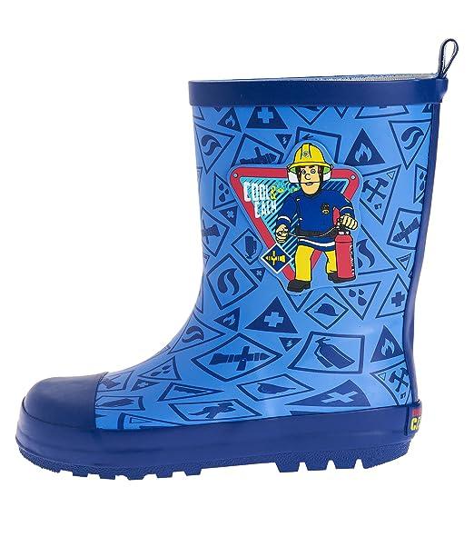 Sam el bombero Botas de agua para Chicos Azul 29 30  Amazon.es  Ropa y  accesorios 9947226dded83