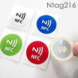 NFC House Ntag216 NFC Sticker 30 mm Round with NFC icon Printed (Set of 5)