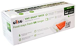 Oliso Pro VAC-SNAP Bags for Oliso Vacuum Sealers, Medium, 1 Quart, 14 Bags