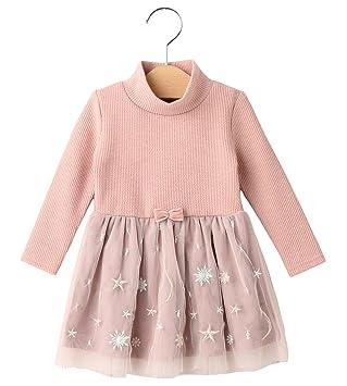 62f6147a5114f cote cotte(コトコット) ベビー 星柄 刺繍 ドッキング ワンピース ベビー服 女の子 子供服 チュール