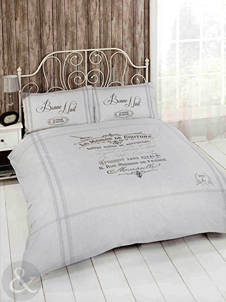 just contempo french shabby chic duvet cover luxury natural beige rh amazon co uk Shabby Chic Duvet Covers Shabby Chic Duvet Covers Target