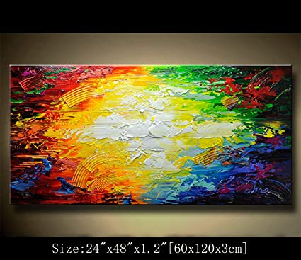 Amazon Com Abstract Modern Canvas Painting Contemporary