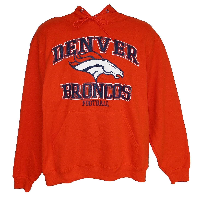 Denver Broncosフットボール大人用Lフード付きパーカースウェットシャツ   B06XTZJT4Z